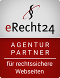 erecht24 siegel agenturpartner rot